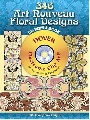 Hoffmann Julius 356 Art Nouveau Floral Designs CD-ROM and Book 0 0