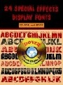 24 Special Effects Display Fonts Cd Rom and Book 0 0