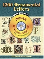 Dover 1200 Ornamental Letters CD-ROM and Book 0 0